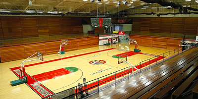 The original gym at the Wigwam in Anderson, Indiana