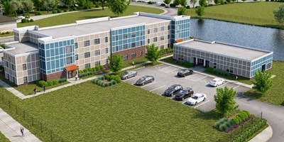 Rendering of the Fieldhouse Apartments at the Wigwam in Anderson, Indiana