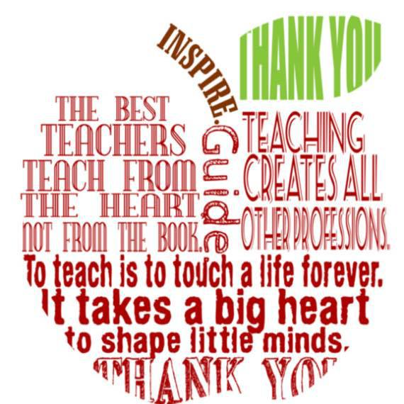 Teacher Appreciation And A Little Story About Me: Teacher Appreciation Week, May 7