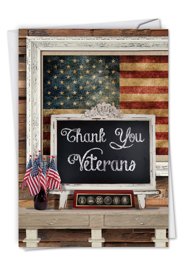 Thank you card to veterans image