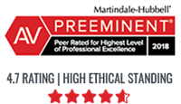 Carlock Legal, a workers comp attorney, has a 4.7 rating for Martindale-Hubbell AV Preeminent Rating
