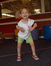 Bridget jumping
