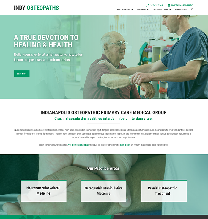 Medical Practice & Doctor Website Theme 2