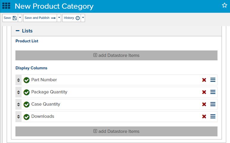 Datastore Item New Product