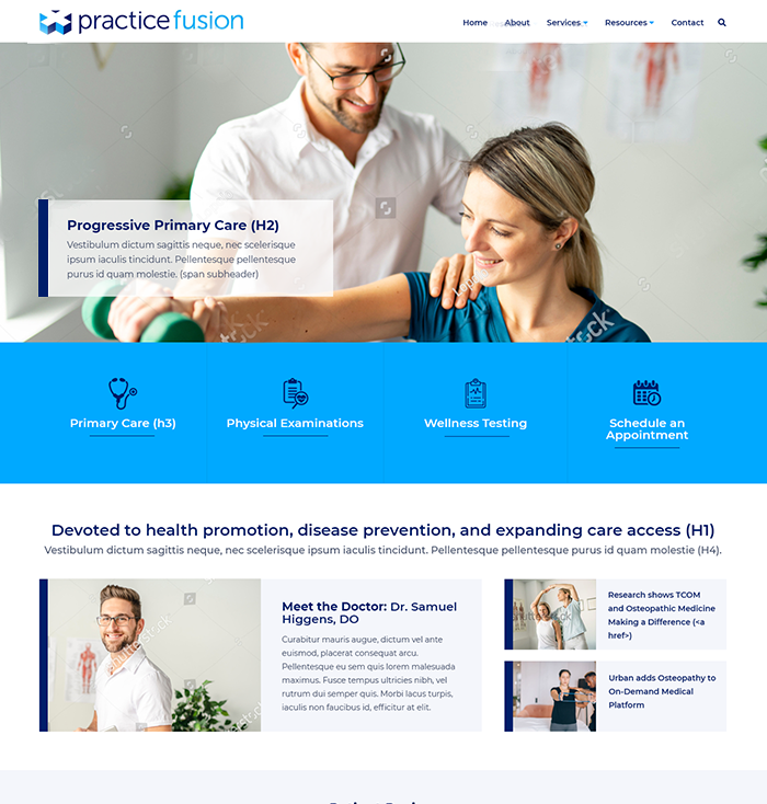 Medical Practice & Doctor Website Theme 1