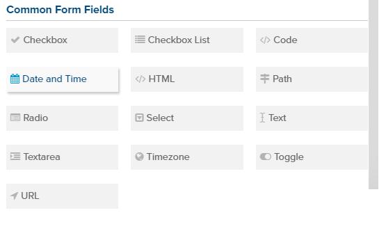 Template Grouping Custom Fields