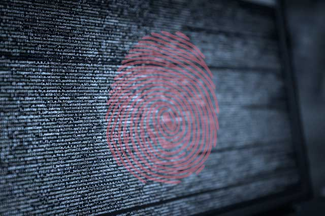 Finger print over lines of development code