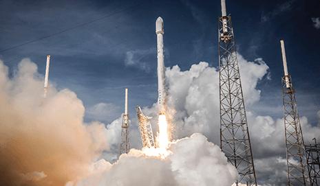 Launching of a rocket