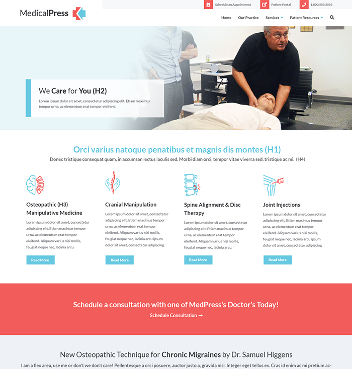 Medical Practice & Doctor Website Theme 3