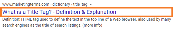 What is a title tag - definition and explanation