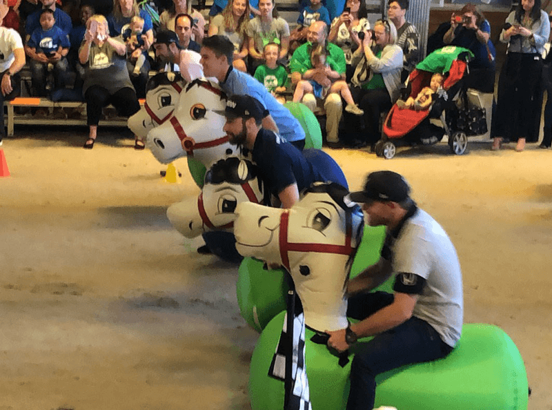 TherAplay Horsepower500 IndyCar Drivers Racing on inflatable horses