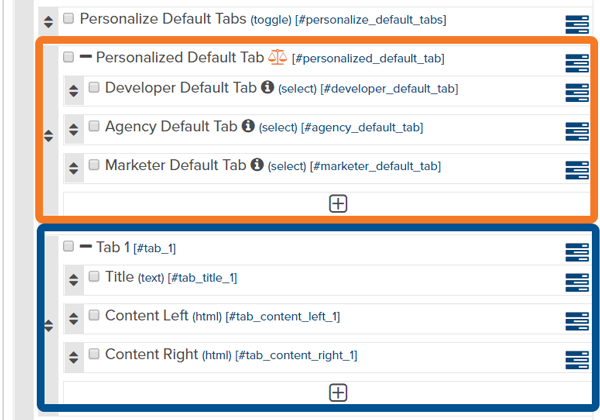 Grouping of Extendable Objects and Custom Fields in Marketpath CMS