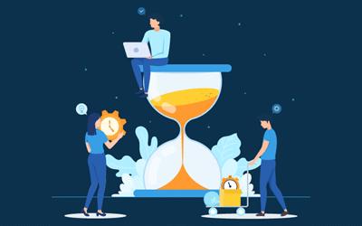 Hourglass and work
