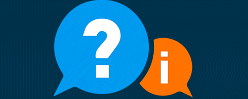 Question mark and information icons