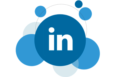 LinkedIn logo in bubbles