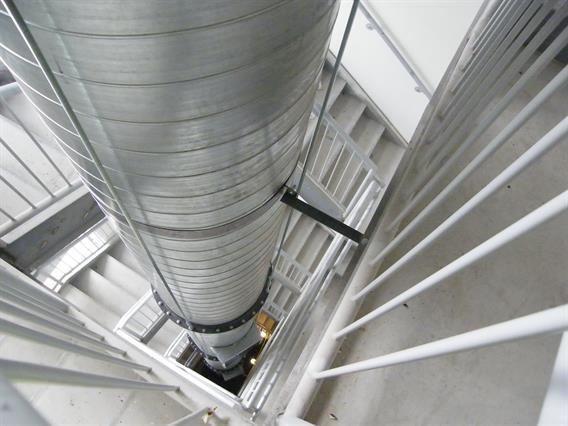 Pressurized stairway safety