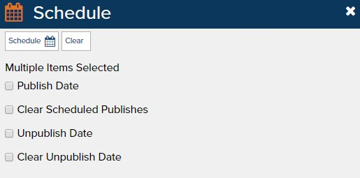Scheduled Publishing Before