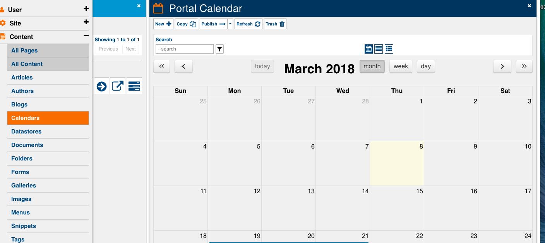 calendar entries