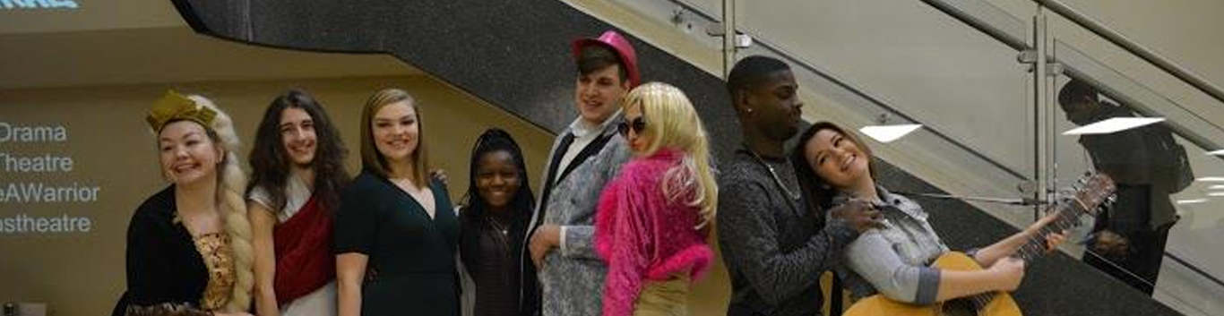 students dressed up for an event
