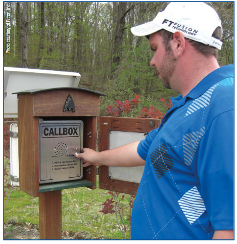 Callbox on Golf Course Food Ordering
