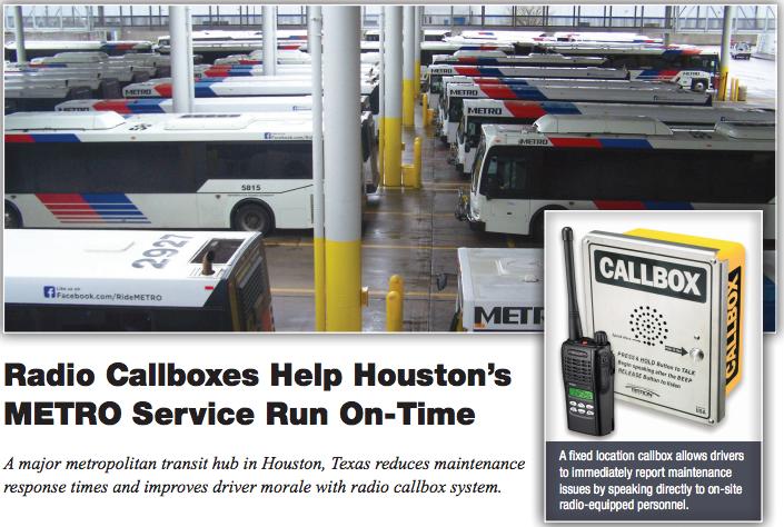 Two Way Radio Call Boxes Improve Metro Bus Service | Ritron