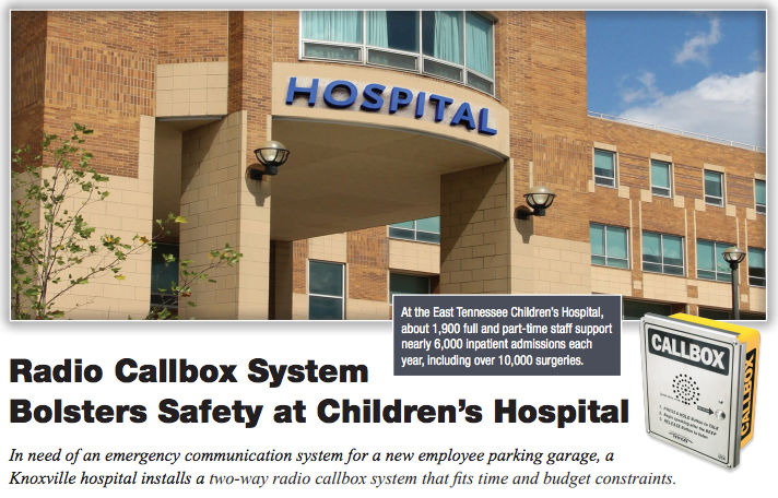 Emergency Call Box Improves Security in Hospital Parking