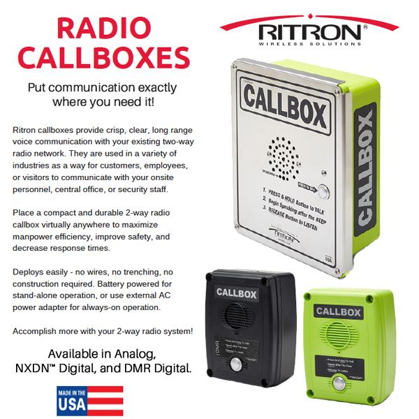 Versatile Radio Callboxes for Construction, Retail
