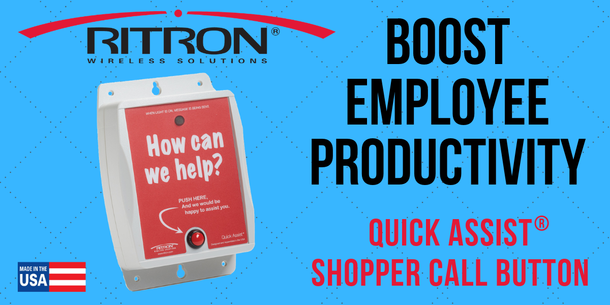 Boost Employee Productivity with the Ritron Quick Assist® Shopper Callbox