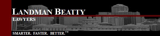Landman Beatty Laywers logo - Smarter Faster Better