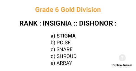 Grade 6 Gold Division