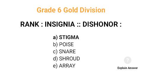 Grade 6 Gold Division