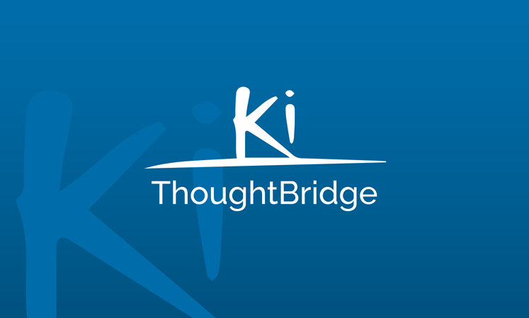 Ki Thoughtbridge logo over a teal background