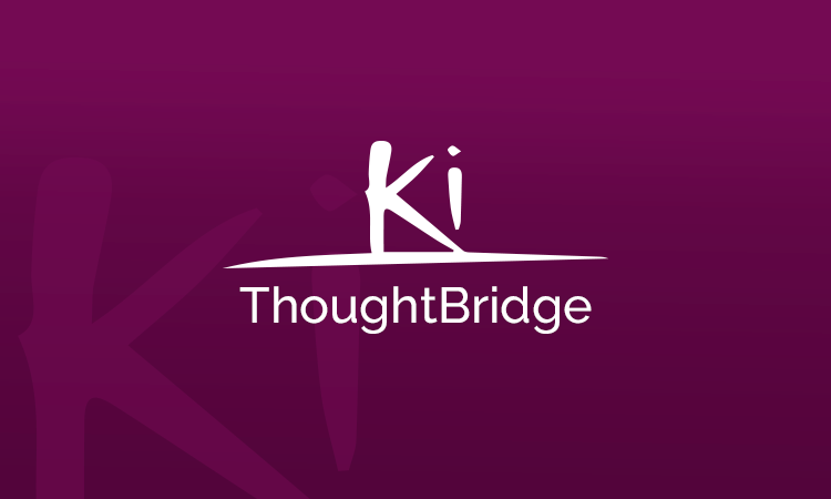 Ki ThoughtBridge logo on purple background