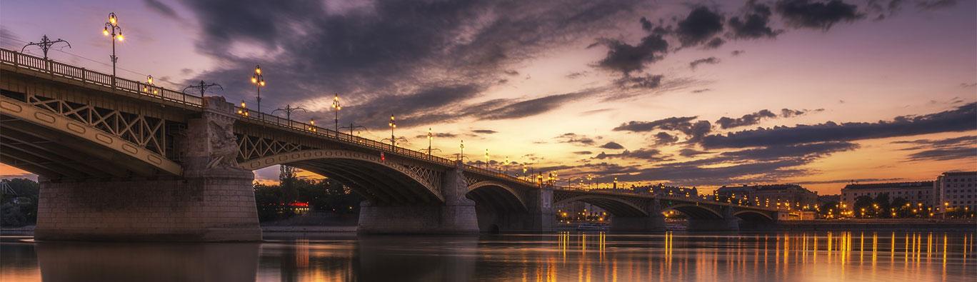 Bridge Over Water at Dusk