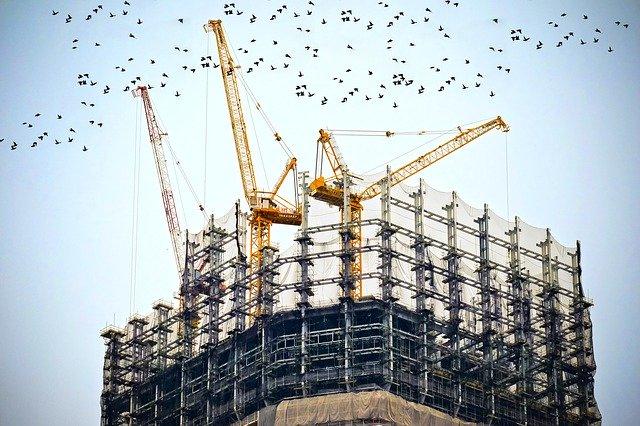 building construction industrial cranes