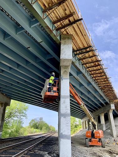 KF-bridge construction site for Blakley's
