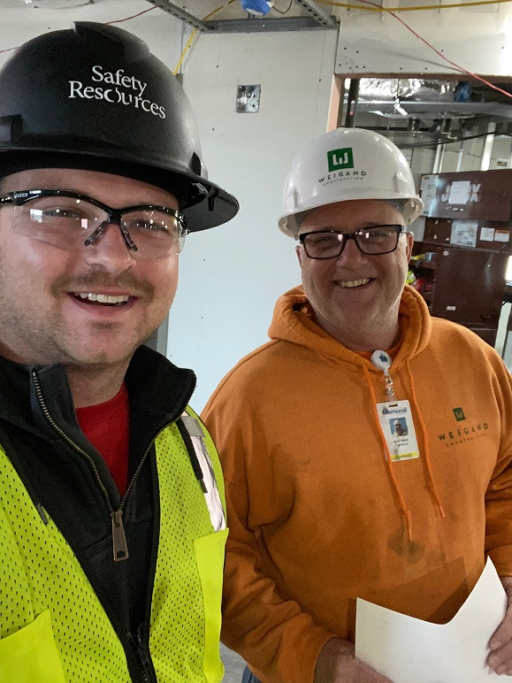 KW-Mark Williams ran into Kristis brother Don Hurst (from Weigand Construct) on a jobsite