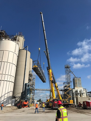 CH-STEINBERGER CONSTRUCTION & RH MARLIN CREWS-40 TON CONVEYOR ETHANOL PLAN LOGANSPORT TX