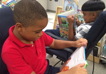 Sunny Heights Student reading