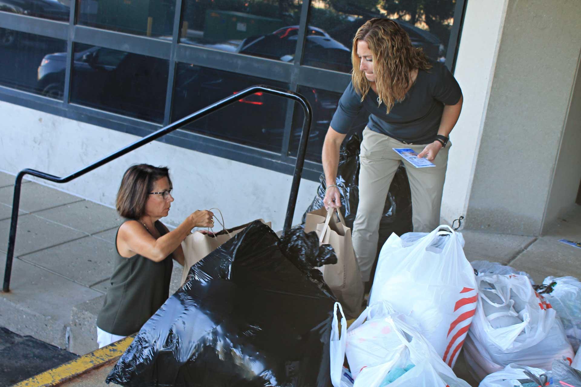 donating bags