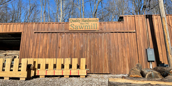 Quality Hardwoods and Sawmill Building in Knightstown Indiana