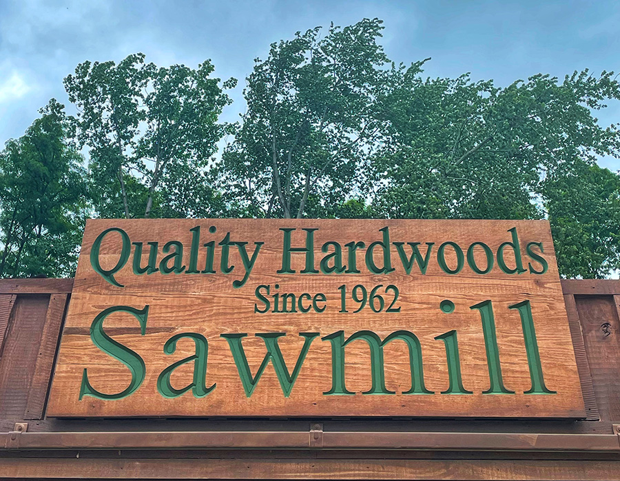 Small Sawmill Sign
