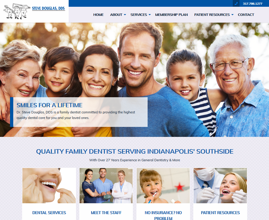 Steve Douglas DDS Dental Website