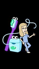 Lisa w toothpaste emoji