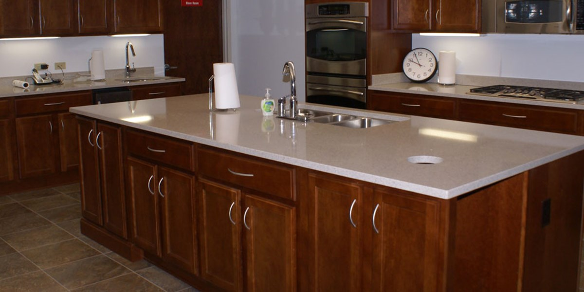 Church Kitchen Design & Commercial Remodel | Spiceland Wood Products ...