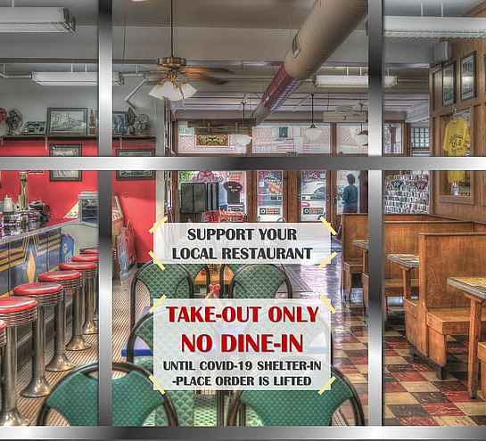 restaurant-sign-take-out-pandemic-lockdown-covid-19-coronavirussq