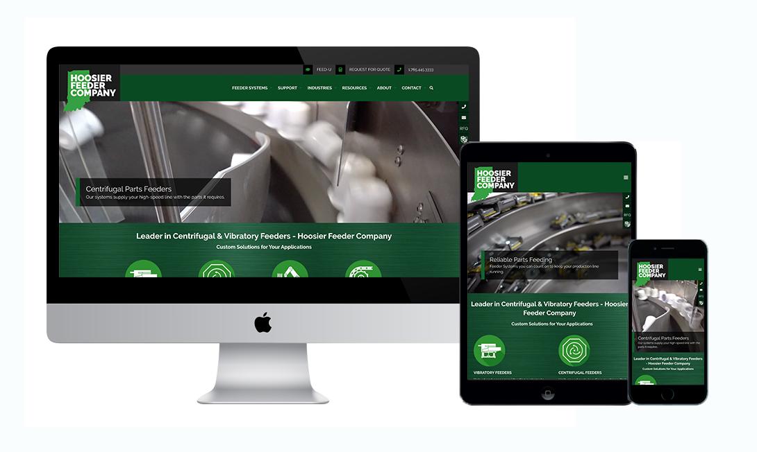 Hoosier Feeder Company Website by Marketpath