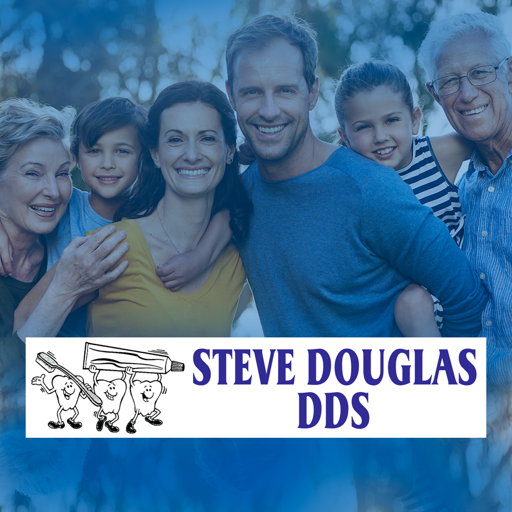 Steve Douglas DDS banner image and logo from his website