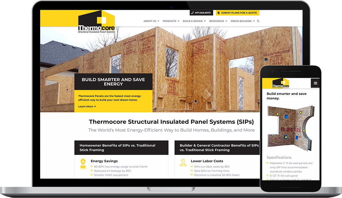 Thermocore Panel Systems New Website