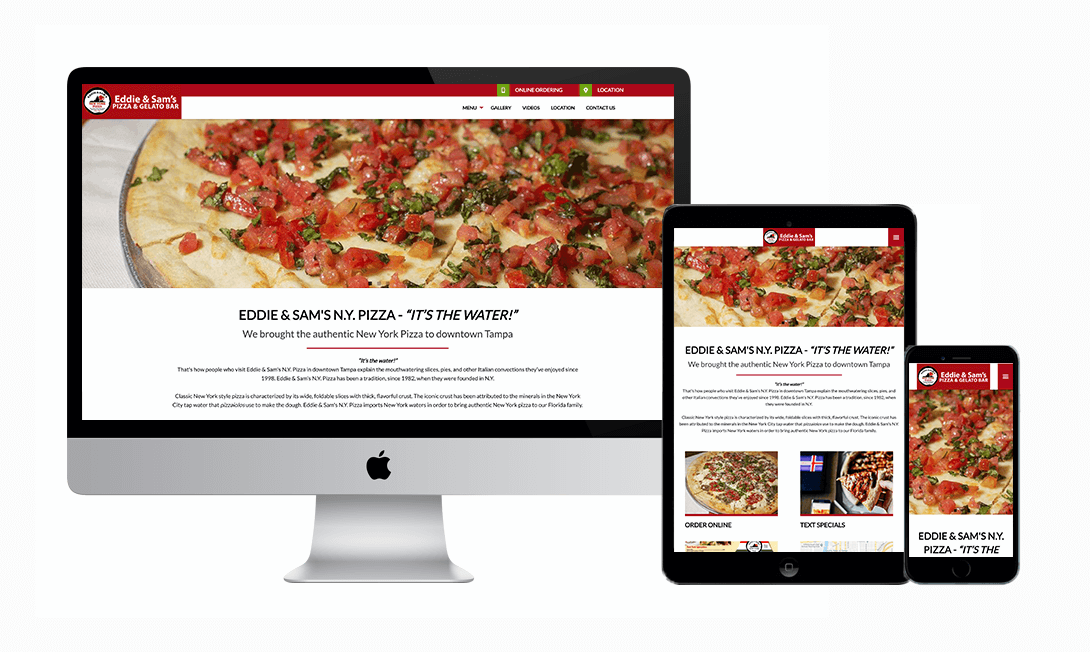 Pizza Web Design Restaurant Websites Marketpath Tampa Florida